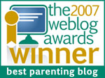 2007 weblog award winner: best parenting blog